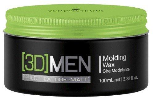 Schwarzkopf 3D Men Molding Wax 1 x 100 ml Hold-Texture-Definition - Hair Molding