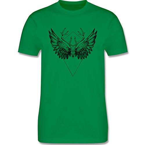 Rockabilly - Deer skull - Herren Premium T-Shirt Grün