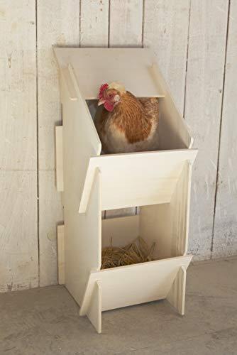 Kerbl 73005 Hühner Legenest aus Holz, unmontiert, 30 x 35 x 83 cm - 5