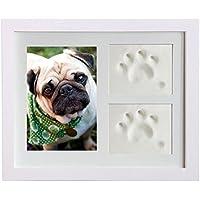 JOHLYE Gatos para mascotas Perros Huellas Inkpad Photo Frame Pet DIY Recuerdos Marco de fotos a