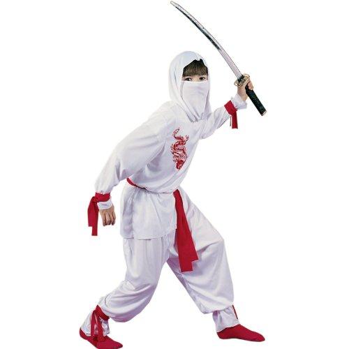 Weißer Ninja Deluxe Kinderkostüm - (Ninja Kostüme White)