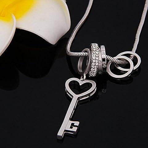 FPP / Retrò a catena lunga / Accessori Abbigliamento / maglione della collana della catena chiave di moda , #2