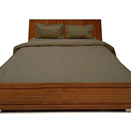 Luxuriöse Ägyptische Baumwolle mit Fadendichte 300 4pc Plansatz-&, 3-teiliges Set mit Bettdecke, 1, Taupe Rock, 300TC, 100% Baumwolle - 300tc-duvet-set