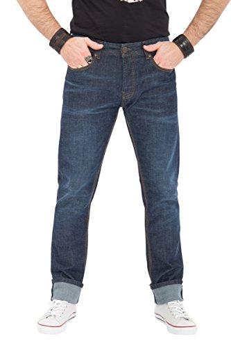 Robins Männer Jeans (KING KEROSIN Regular Fit Jeans Robin Dark Blue Robin Herren Regular Fit KK1001001)