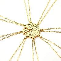 Bomcomi Unique Cheese Pizza Pendant Chain Necklace Friendship Necklace Jewelry Gift