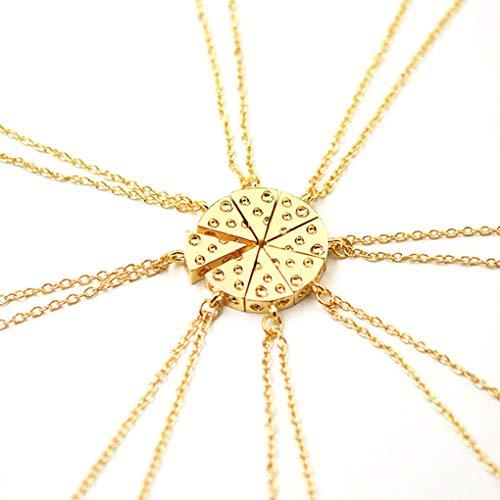 äse-Pizza-Anhänger-Ketten-Halskette Freundschafts-Halskette Schmuck Geschenk ()