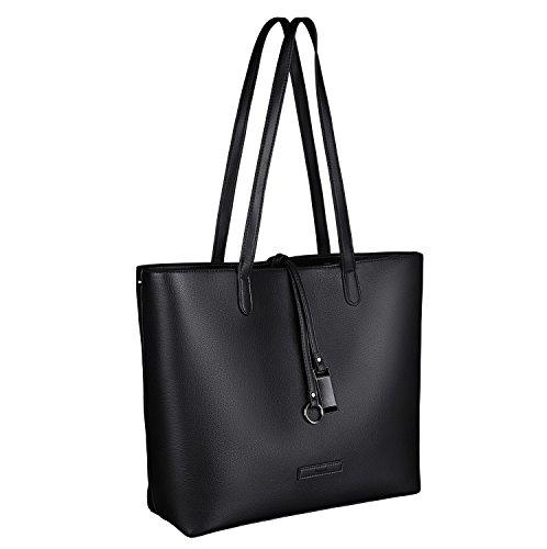 tragwert. Borsa da donna Shopping Bag LARA nera - Borsa tote a spalla Shopper Borsetta Pochette