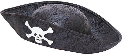 Unisex: Kinder Kostüm Party Zubehör Seeräuber Kapitän Piraten Kindergröße Hut - Schwarz, Einheitsgröße, Einheitsgröße (Kostüme Für Schule Spielt)