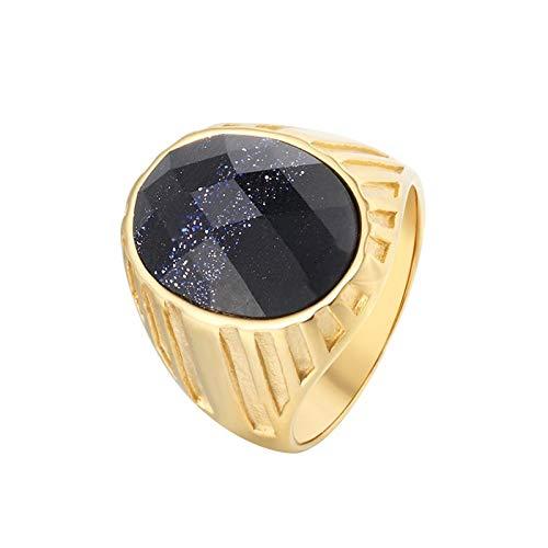 Mann Kostüm Stein Medusa Und - Blisfille Ring Männer Wikinger Goldring Vintage Elliptischer Edelstein Gold Ring Gr. 62 (19.7) 20mm Breit 11G Golden Lila Gothic Ring