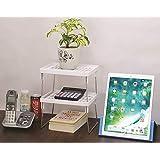 JVS White Multipurpose Rack Shelf Set Of 2, Small