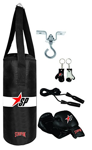 Starpak Sandsack Set Kid Boxing, Schwarz, 60 x 23cm, TBS60.23.CD