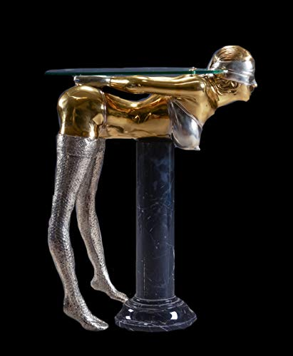 FINE ARTS WOHNKULTUR Skulptur, Bronze, Erotik, Consol Table, Tisch, Figur, Lebensgroße, Sadista (Gold/Silver)