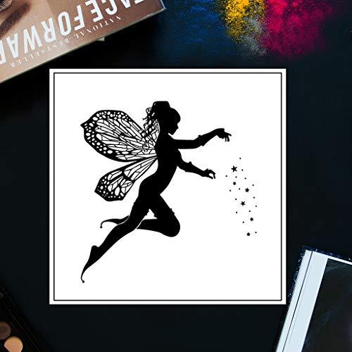 Fee Engel DIY Transparente Briefmarke, Silikon Stempel Set, Clear Stamps, Schneiden Schablonen, Bastelei Scrapbooking-Werkzeug