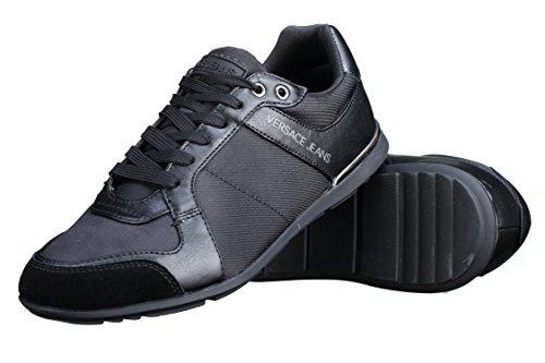 Versace Jeans Nylon Lace Herren Sneaker Schwarz Schwarz