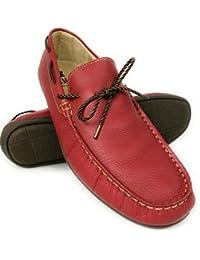 Zerimar Náuticos de Piel para Hombre | Náuticos Hombre Verano | Zapatos Náuticos Hombre | Mocasines Hombre | Tallas Grandes 46-50 | Náuticos Piel