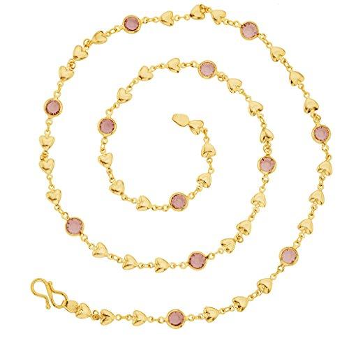 The Jewelbox a forma di cuore, 22 k, catena placcata oro 24, per (22k Oro Cuore)