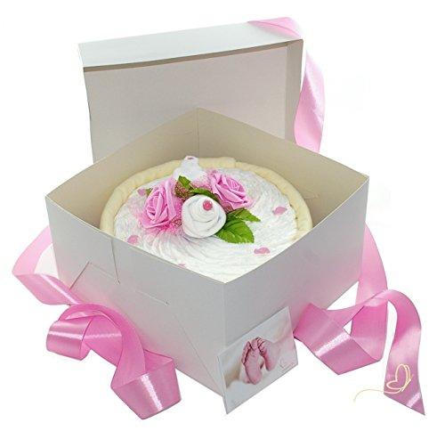für Mädchen in Cakebox rosa - Geschenke zur Geburt - dubistda© handmade ()