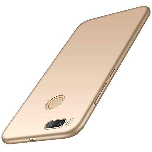 AOBOK Funda Xiaomi Mi A1, Ultra Slim Anti-Rasguño y Resistente Huellas Dactilares Totalmente Protectora Caso de Duro Cover Case - Oro