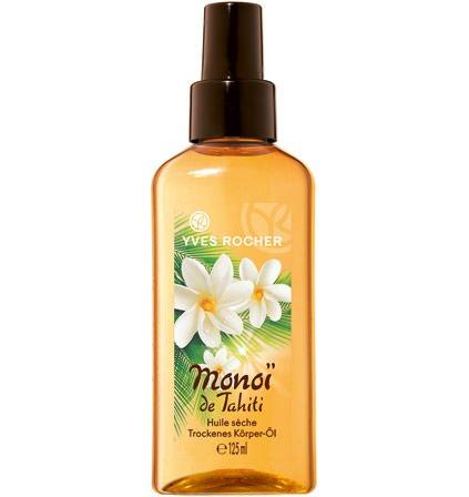 Yves Rocher MONOÏ trockenes Körper-Öl, pflegendes Feuchtigkeits-Öl für Haut & Haare, 1 x Pump-Flacon 125 ml - Körper-haar-Öl