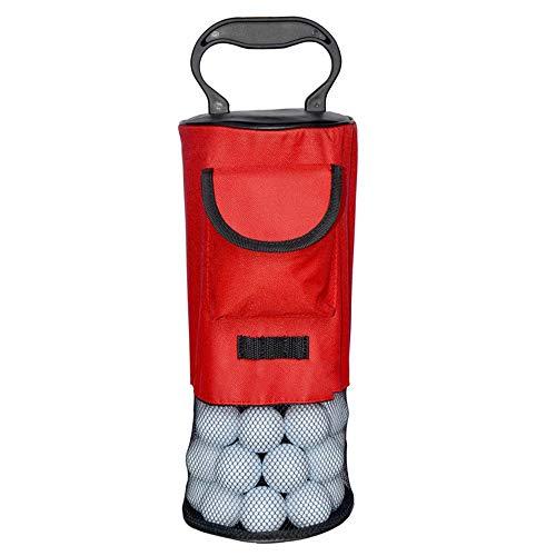Tragbarer Ballsammler und Halter Square Shag Bag Golf Pick-Up Bag für bis zu 80 Bälle
