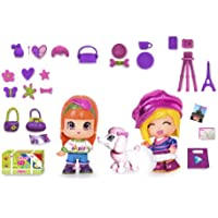 Famosa Pin y Pon Gift Pack Viajes Paris - Set temático de 3 muñecos pinypon con accesorios