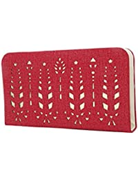 Style Villaz Women Red Suede Leatherette Clutch