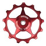 Huatuqi ausreichend 11T /13T Radfahrrad Variable Geschwindigkeit Derailleur Jockey Guide Wheels Pulley(None Red 13T)