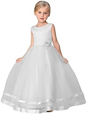 LINNUO Ragazze Vestito Festa da Principessa Matrimonio Fiore Vestito per Compleanno Partito Festa Nuziale Prom