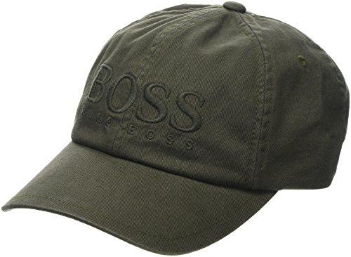 BOSS Herren Panamahut Fritz, Grün (Dark Green 302), One Size