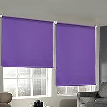 Auralum® 70×120cm morado estores enrollable sin taladrar estor opaco para ventana