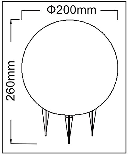 Trango IP65 Gartenkugel in Granit-Optik 20cm Ø inkl. 5m Outdoorkabel TG200G - 2