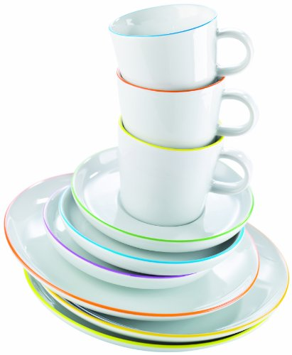 arzberg porzellan cucina colori 2100 70657 3618 servizio da tavola 12 pezzi in confezione. Black Bedroom Furniture Sets. Home Design Ideas