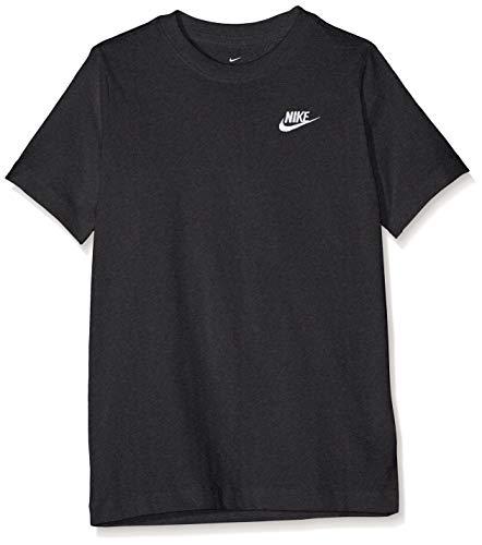 a46c974f6 Nike B NSW tee EMB Futura T-Shirt, Niños, Black Heather, M
