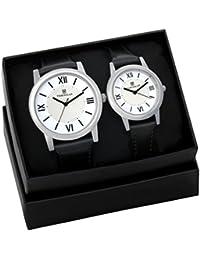 Timewear Analogue White Dial Men's & Women's Couple Watch (Tc1-917Wdtcouple)