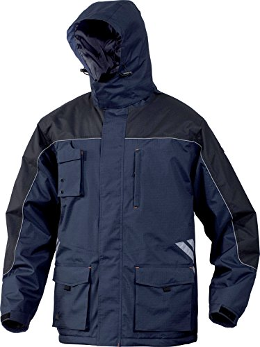 Delta Plus - Finnmark - Waterproof Parka Jacket Coat With Removable Hood - EU / UK Marineblau/Schwarz