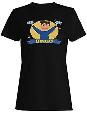 Bingo juego lotería ganar éxito regalo camiseta de las mujeres e924f