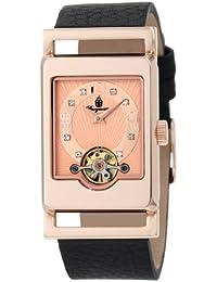Burgmeister Delft BM510-362 - Reloj de mujer automático, correa de piel color negro