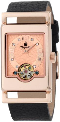 Burgmeister Armbanduhr für Damen mit Analog Anzeige, Automatik-Uhr und Lederarmband - Wasserdichte Damenuhr mit zeitlosem, schickem Design - klassische, elegante Uhr für Frauen - BM510-362 Delft