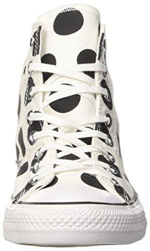 Converse Ctas Hi, Sneaker a Collo Alto Donna Bianco (White/Black/White)