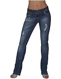 S&LU Super Damen Used Jeans mit Destroyed-Effekten mit Stretch in verschiedenen Größen/Jetzt für kurze Zeit zum Hammerpreis