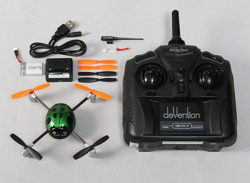 Walkera QR Ladybird V2 Micro Quadcopter Quadrocopter RTF mit Devo4 2,4 Ghz mit Zubehör von notebook-as® - 4