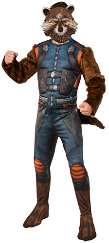 Rubies 3820728 - Rocket Raccoon Deluxe GOTG 2  STD  Guardians of the Galaxy (Marvel Comic Fancy Dress Kostüme)
