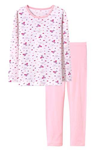 ABClothing Little Girls Pyjamas Baumwolle Langarm Pjs Kleinkind Kleidung Kinder Nachtwäsche Shirts Bunny Lila 6 7