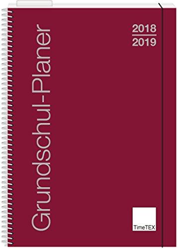TimeTEX Grundschul-Planer mit Ringbindung - A4-Plus bordeaux - Schuljahr 2018 - 2019 - Terminplaner für die Grundschule - Lehrerkalender - Schulplaner - 10416