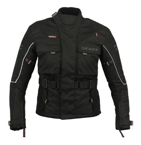Kinder Motorrad Schutz Jacke Jugend Mx Motocross - Schwarz, XL -