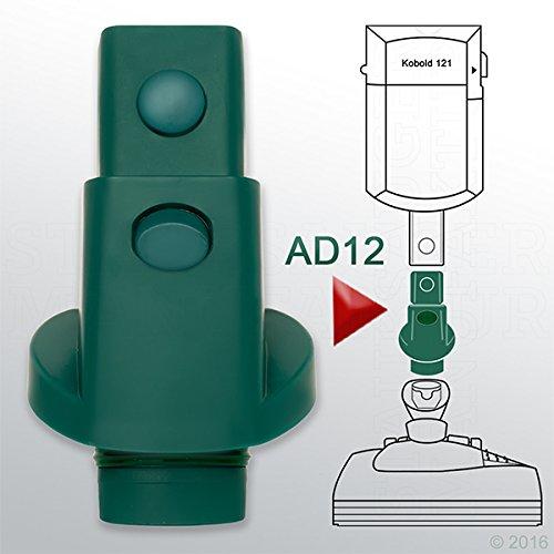 Adapter AD12 passend für Vorwerk Kobold 120 121 122 Tiger 250 251 / Ersatzteil / Zubehör