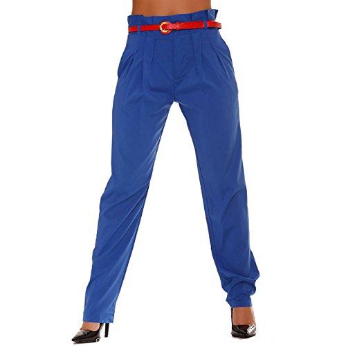Miss Wear Line -  Pantaloni  - a sigaretta - Donna blu (Pantaloni Misses Lino)