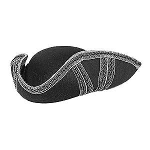 WIDMANN 01882 - Sombrero de fieltro de tres puntas, unisex, para adultos, color negro, talla única