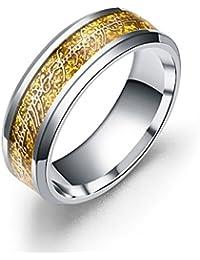 Dalaran anillos de acero inoxidable para hombres mujeres los señores de los anillos plata/negro/oro