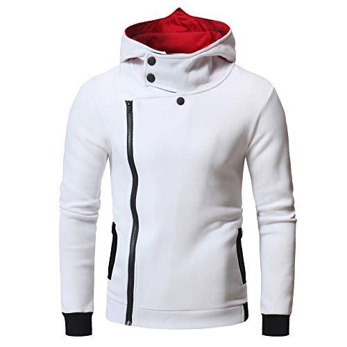 MIRRAY Herren Drucken Zipper Kapuzenpulli Mantel Pullover